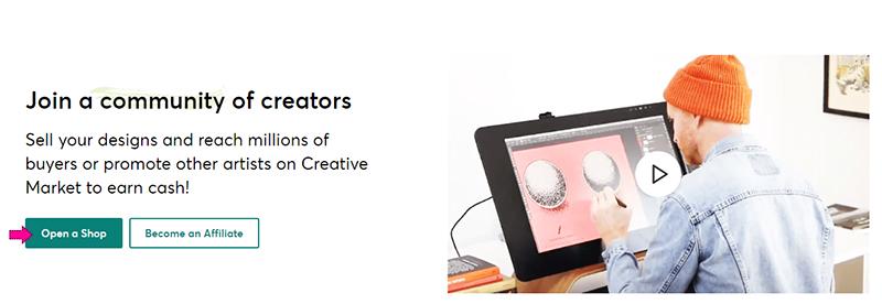 سایت creative market